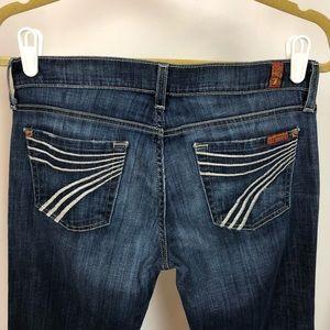 7 FAM Dojo Jeans, Dark Wash 26x30